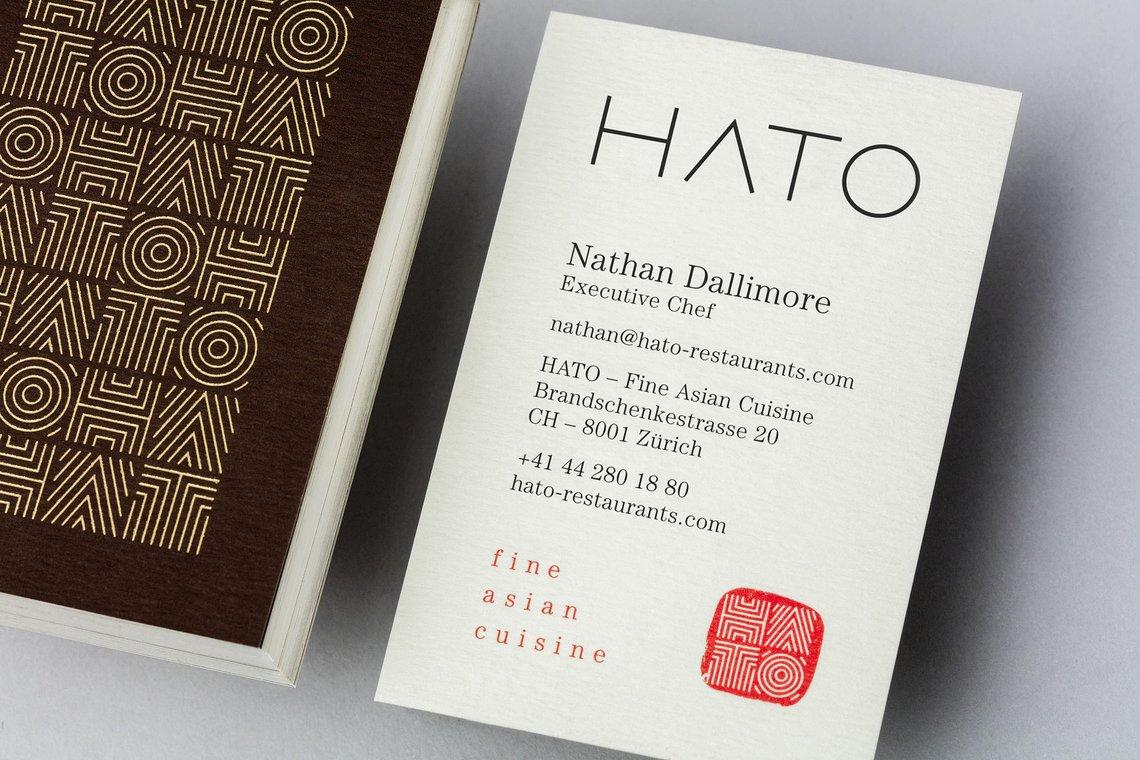 Brand Identity Hato Restaurants Allink